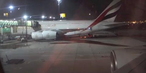 Emirates Airbus A380 /  Dubai to Dallas / Business Class