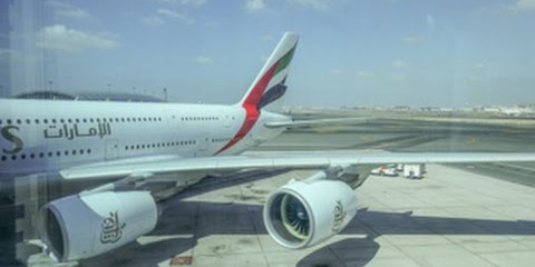 Emirates Airbus A380 /  Dallas Ft Worth to Dubai / Business Class