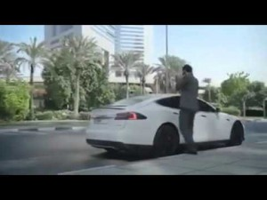 New TESLA technology car( self driving taxi-car ) in DUBAI