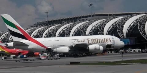 EMIRATES A380 EK384 DUBAI BANGKOK BUSINESS CLASS 16.10.13