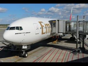 Emirates Boeing 777-300 ER Business Class, Inaugural flight Oslo-Dubai