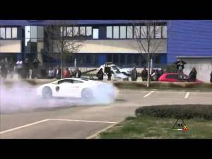 Dubai Police Lamborghini, May 2013, Street Race Drifting Public Car Show