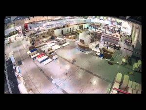 Time lapse video of build-up of Arab Health 2012 in Dubai